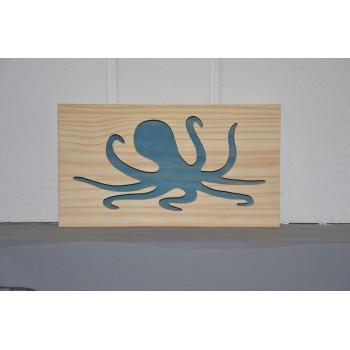 Cadre poulpe en bois