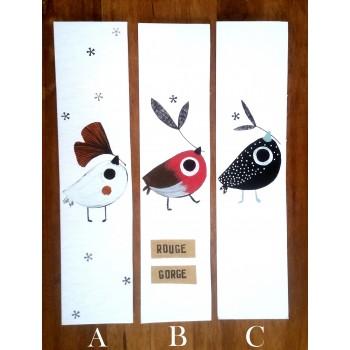 """Marques Pages """"Oiseaux"""""""