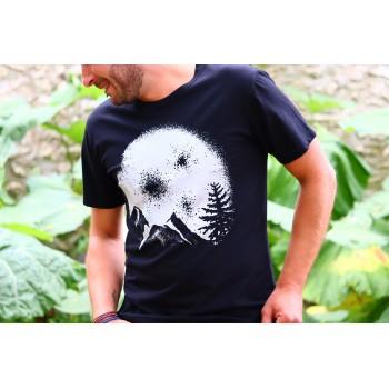"""T-Shirt Noir Homme """"Lune""""..."""