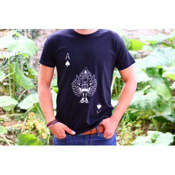 "T-Shirt Noir Homme ""As de..."