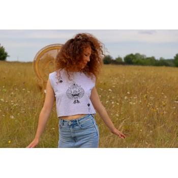 """T-Shirt Gris Femme """"As de..."""